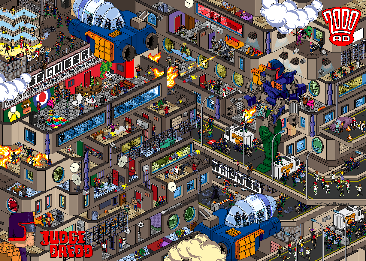 Mega City One Pixel Art