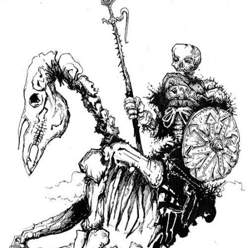 Thumbnail for the post titled: Skeleton horseman