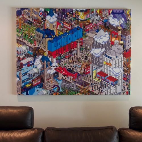 Thumbnail for the post titled: London Calling : Canvas Print